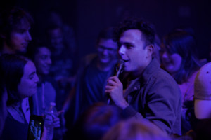 Max Kerman, the lead singer of the Arkells, steps into the audience to serenade the crowd (Photo: Erin Blewett)
