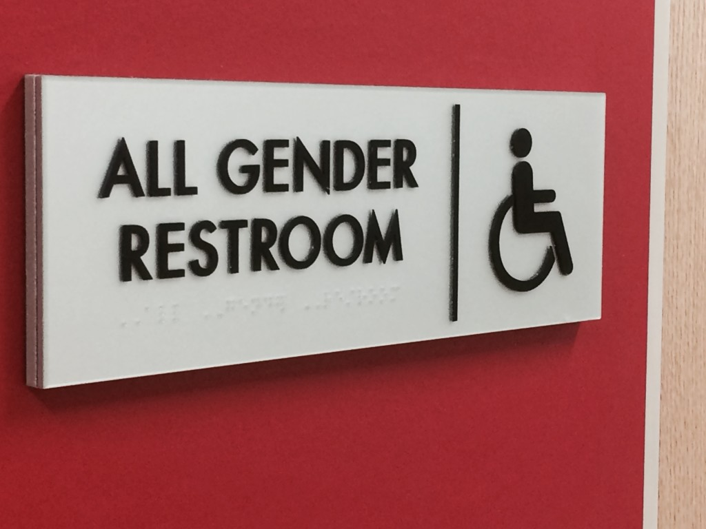 Recently, Temple placed all gender bathrooms in buildings across its campus. The new gender-inclusive housing is one more step to make sure all students feel comfortable. (Photo: Taylor Allen)