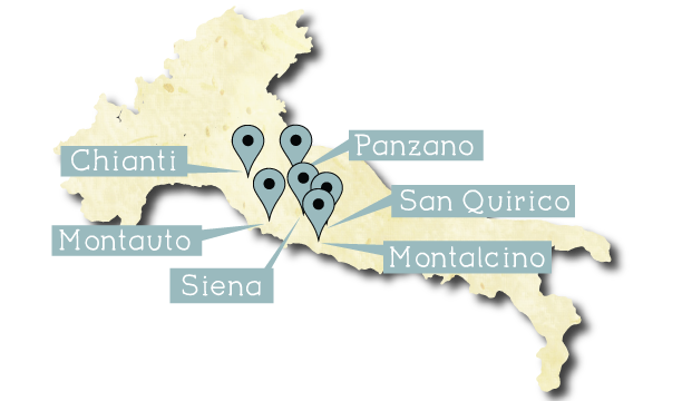 Savory Trails of Tuscany Map