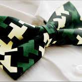 Black_green_ivory_geometric_printing_unique_tuxedo_mens_bow_tie_b555