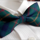 Multicolor_check_dark_green_mens_bowtie_b234