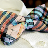 Multicolor_checked_unusual_mens_bowtie_b191