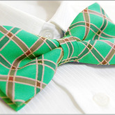 Turquoises_unique_checked_men's_tuxedo_bow_tie_b672