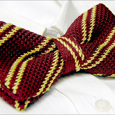 Yellow_stripes_burgundy_knitted_tuxedo_men's_bow_tie_b635