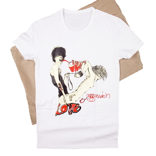 Love-and-agression-white-t-shirt-unisex