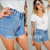 Iris-knitting-ca12185-free-shipping-women-studs-rivet-short-jeans-fashion-wornout-hot-pants-lady-wash