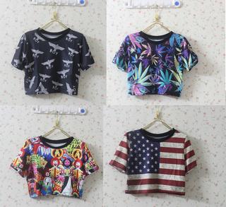 2013-new-fashion-t-shirt-women-short-london-boy-harajuku-style-eagle-skull-usa-uk-flag