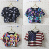 2013-new-fashion-t-shirt-women-short-london-boy-harajuku-style-eagle-skull-usa-uk-flag