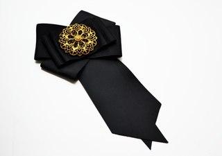 Брошь галстук из лент своими руками 890