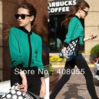 Fashion-vintage-chiffon-shirt-top-patchwork-causal-elegant-organza-blouse-shirt-ol-women-s-green-pink.jpg_350x350