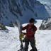 Brooke taking skins off for the descent