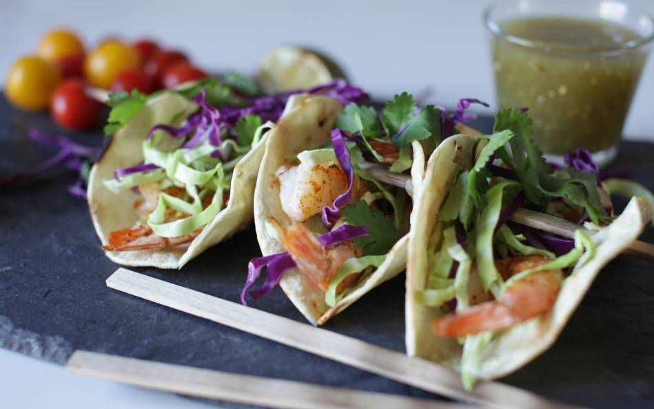 Taco Tuesday Recipe: Cedar Skewered Shrimp Tacos