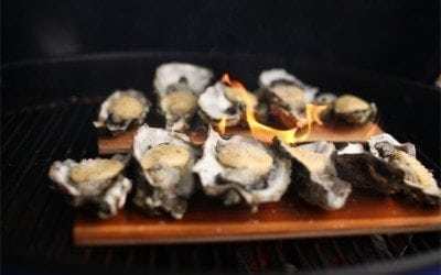 Cedar Planked Oysters