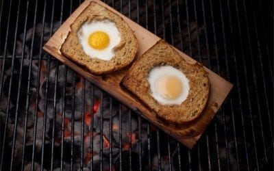 Cedar Planked Toad in the Hole