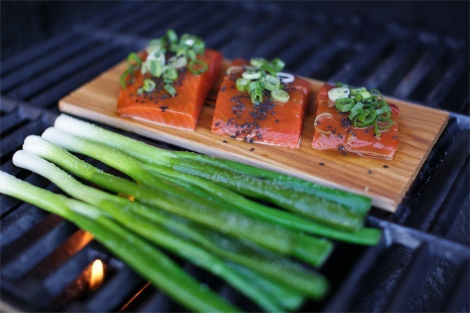 Cedar Planked Salmon with Maple, Orange & Wasabi Glaze Recipe