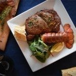 Cherry Planked Surf & Turf: Lobster Tails and Steak Recipe