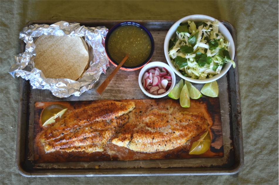 Cedar Planked Catfish Tacos Recipe