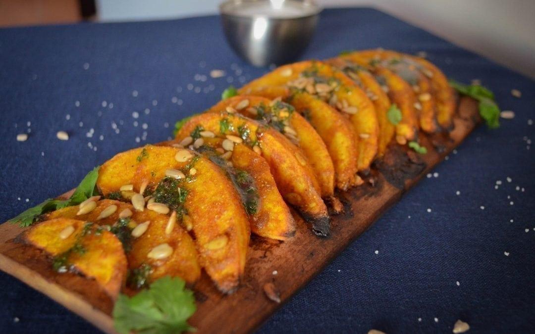 Maple Planked Curry Acorn Squash Recipe