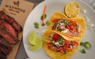 Red Oak Planked Coffee Rubbed Steak Tacos Recipe