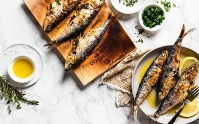 Cedar Planked Herb Stuffed Sardines Recipe