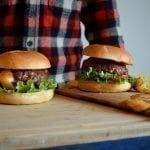 Hickory Planked Cheese-Stuffed Burgers Recipe