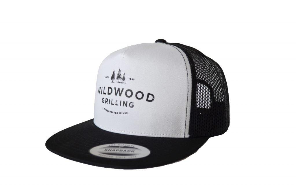 Flat Bill Trucker Hat with Wildwood Grilling Logo