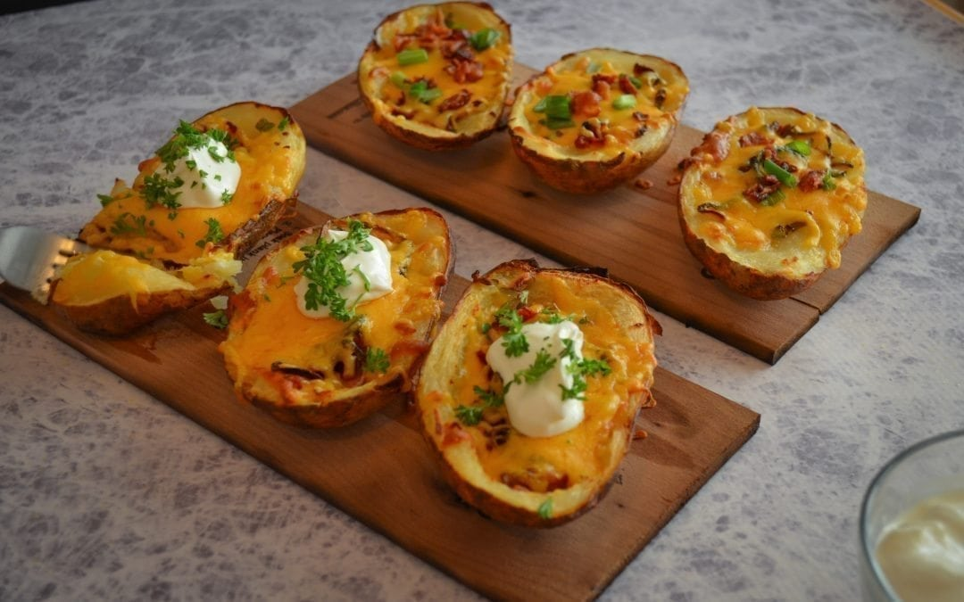 Maple Planked Potato Skins Recipe