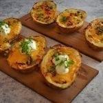 Maple Planked Potato Skins Recipe