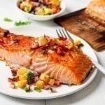 Cedar Planked Salmon with Fruit Salsa Recipe