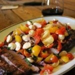 Mesquite Smoked Flank Steak with Wine Sauce Recipe