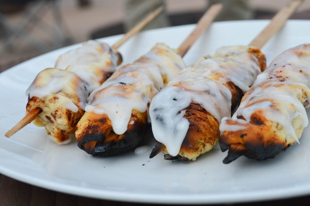 Cedar Skewered Cinnamon Rolls Recipe