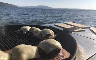 Planked Jalapeño Stuffed Burgers