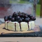 Cedar Planked Brie with Blueberries & Honey Recipe