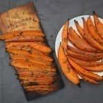 Red Oak Planked Sweet Potato Wedges Recipe