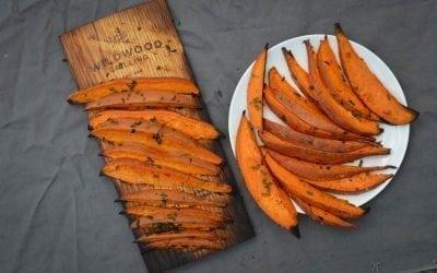 Red Oak Planked Sweet Potato Wedges Recipe