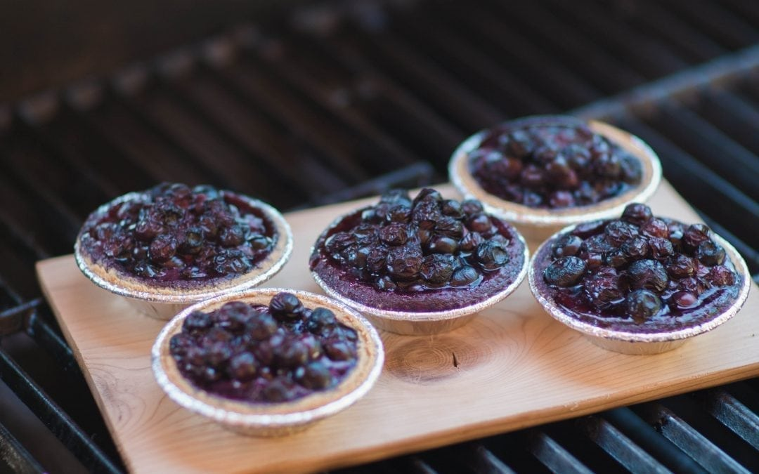 Cedar Grilled Mini Blueberry Tarts