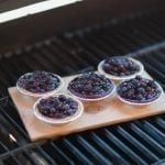 Cedar Grilled Mini Blueberry Pies
