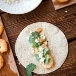 Alder Planked Shrimp Tacos and Apple Salsa