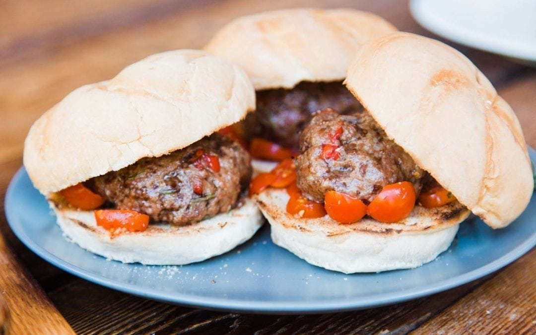 Red Oak Planked Lamb Burgers Recipe