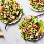 Alder or Cedar wrapped Swordfish Salad with Fennel and Radish