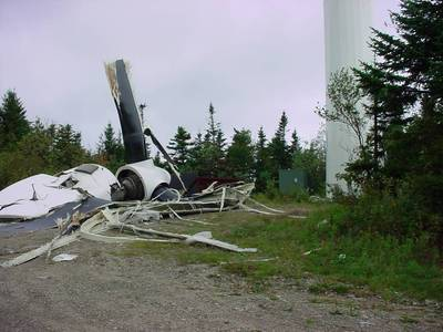 Searsburg VT catastrophic turbine failure - 1