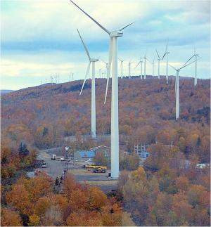 Stetson Mountain turbines