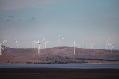 Capital Wind Farm and the landscape around Lake George