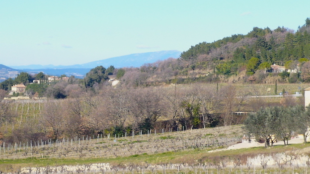 The sweeping vista south and west from the tiny mountainside village of gigondas 2