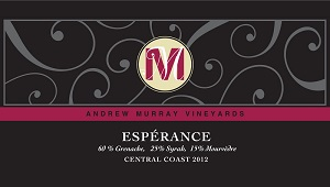 2012 Andrew Murray Esperance ($25) 90 points