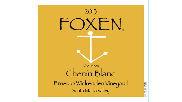 2013 Foxen Chenin Blanc Ernesto Wickenden Vineyard Old Vines ($25) 90	 points
