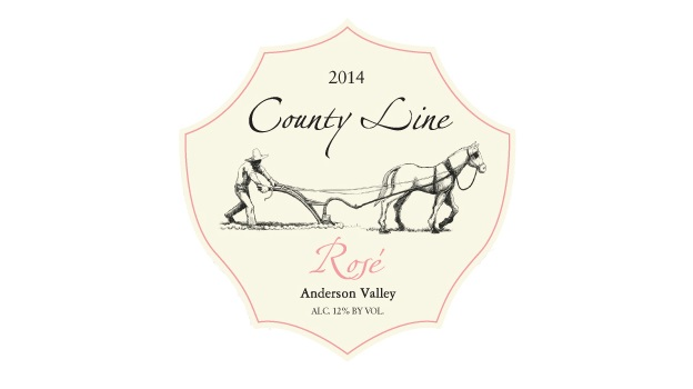 2014 County Line Vineyards Rosé Elke Home Ranch ($23) 89 points