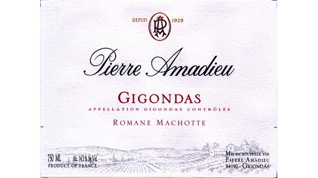 2012 Pierre Amadieu Gigondas Romane-Machotte ($25) 91 points