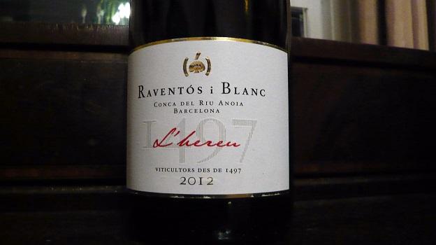 2012 Raventos i Blanc L'Hereu Conca del Riu Anoia ($20) 91 points