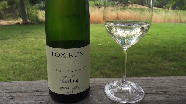 2014 Fox Run Semi-Dry Riesling ($14.00) 90 points